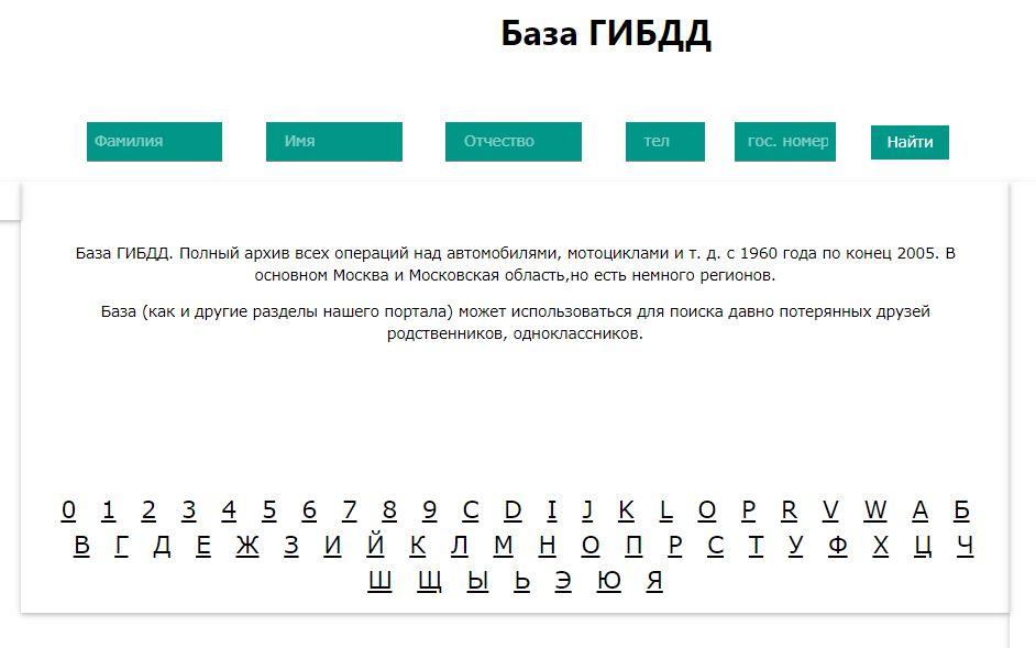 Номер орг - База ГИБДД